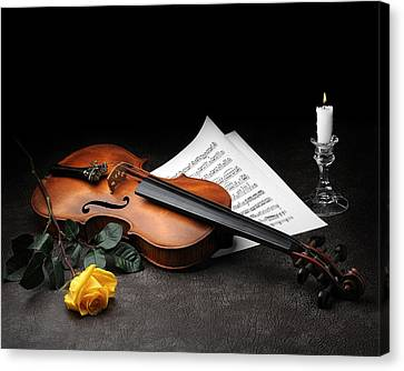 Canvas Print featuring the photograph Still Life With Violin by Krasimir Tolev