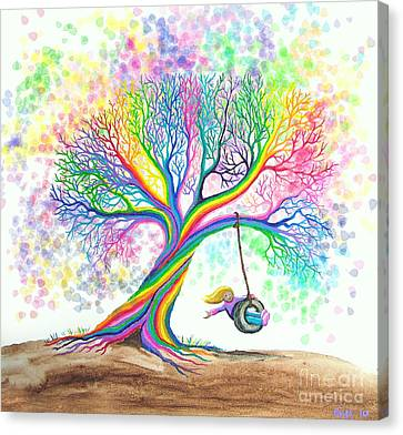 Still More Rainbow Tree Dreams Canvas Print