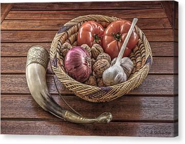 Still Life With A Georgian Horn Canvas Print by Julis Simo