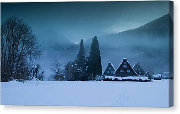 Still Of Evening Canvas Print by Aaron Bedell