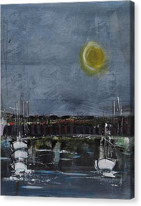 Canvas Print featuring the painting Still Of The Night # 2 by Nicole Nadeau
