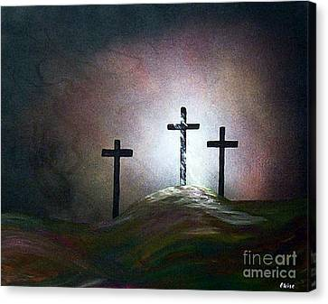 Canvas Print featuring the painting Still The Light by Eloise Schneider