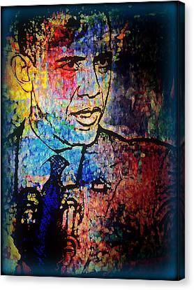 Barack Obama Canvas Print - Still The One by Wendie Busig-Kohn