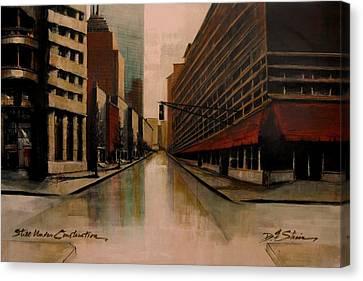 Still Under Construction Fourteen Canvas Print by Diane Strain