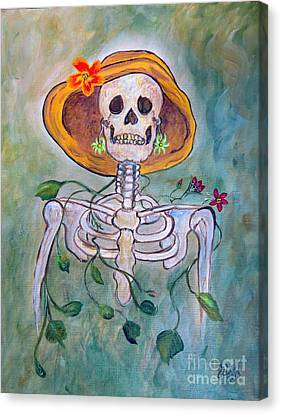 Canvas Print featuring the painting Still Waiting For Mr. Right by Ella Kaye Dickey