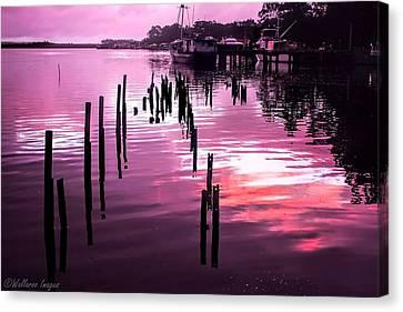 Still Water Dusk 2 Canvas Print by Wallaroo Images