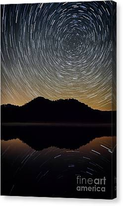 Still Water Star Trails Canvas Print by Anthony Heflin