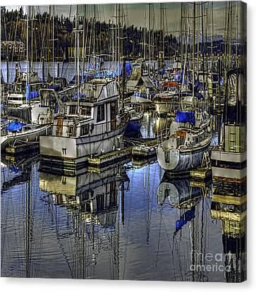 Canvas Print featuring the photograph Still Water Masts by Jean OKeeffe Macro Abundance Art