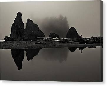 Stillness At Ruby Beach Canvas Print