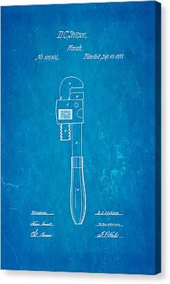 Stillson Wrench Patent Art 1870 Blueprint Canvas Print by Ian Monk
