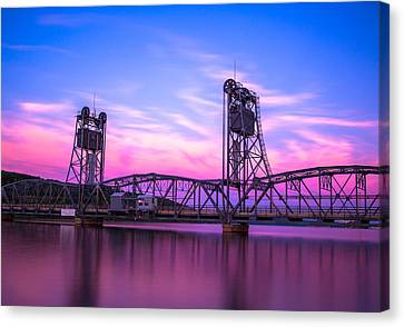 Historical Canvas Print - Stillwater Lift Bridge by Adam Mateo Fierro
