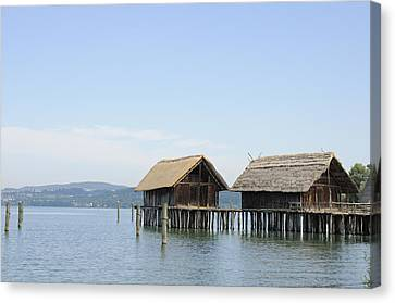 Stilt Houses In The Water Lake Constance Canvas Print by Matthias Hauser