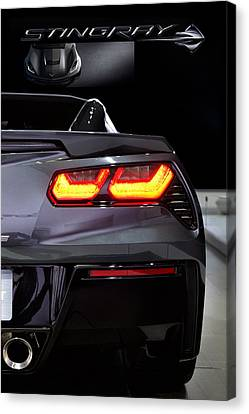 Corvette Stingray Canvas Print - Stingray Tail by Peter Chilelli