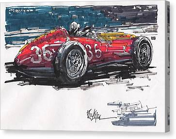 Stirling Moss Maserati Grand Prix Of Italy Canvas Print by Paul Guyer