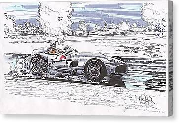 Stirling Moss Mercedes Benz Grand Prix Of Argentina Canvas Print by Paul Guyer