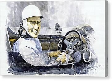 Stirling Moss Canvas Print by Yuriy  Shevchuk