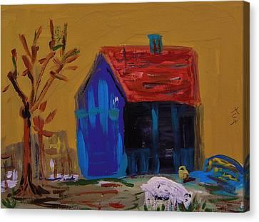 Stirring Barn Colors Canvas Print by Mary Carol Williams