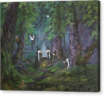 Cannock Chase Canvas Print - Stirring Up A Potion by Jean Walker