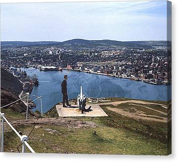 St.john's From Signal Hill 1966 Canvas Print by George Cousins