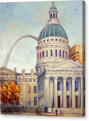 St.louis Old Courthouse Canvas Print by Irek Szelag