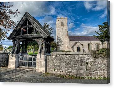 St.marcellas Entrance Canvas Print by Adrian Evans