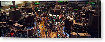 Stock Exchange, Nyc, New York City, New Canvas Print by Panoramic Images