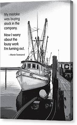 Stock In The Company Canvas Print by Mike Flynn