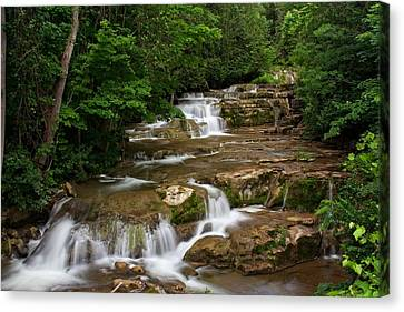 Canvas Print featuring the photograph Stockbridge Falls by Dave Files