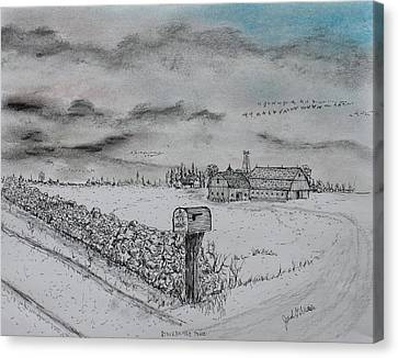 Stockbridge Fence Canvas Print by Jack G  Brauer