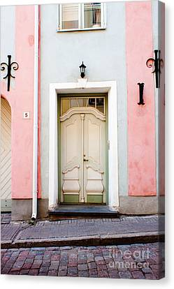 Stockholm Doorway Canvas Print by Thomas Marchessault