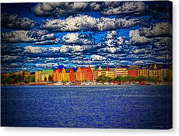 Stockholm Experimental Hdr Canvas Print by Ramon Martinez
