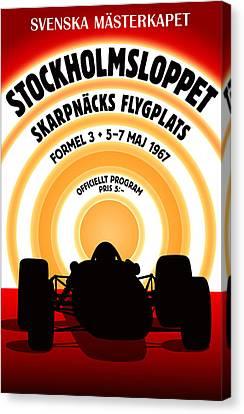 Stockholm Formula 3 1967 Canvas Print by Georgia Fowler