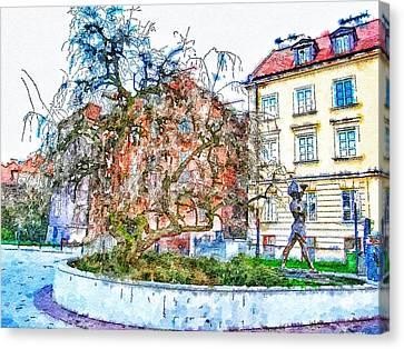 Stockholm Galma Stan Old Town Canvas Print