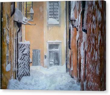 Old House Canvas Print - Stockholm In Winter by Gun Legler