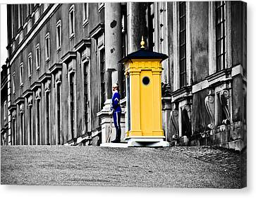Stockholm King's Guard Canvas Print by Damion Lawrence