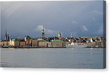 Stockholm Old Town Canvas Print by Torbjorn Swenelius