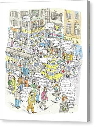 'stockopolis' Canvas Print by Roz Chast