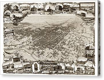 Stockton San Joaquin County California  1895 Canvas Print by California Views Mr Pat Hathaway Archives