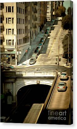Stockton Street Tunnel San Francisco 7d7499brun Canvas Print by Wingsdomain Art and Photography