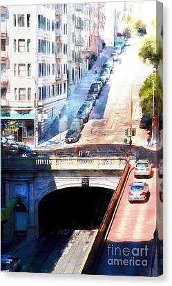 Stockton Street Tunnel San Francisco 7d7499wcstyle Canvas Print by Wingsdomain Art and Photography