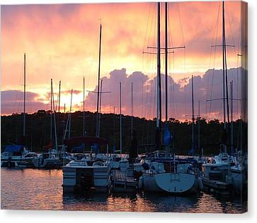 Canvas Print featuring the photograph Stockton Sunset by Deena Stoddard