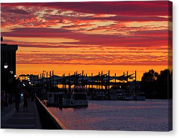 Stockton Sunset Canvas Print by Randy Bayne