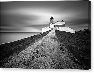 Stoer Head Lighthouse Canvas Print by Dave Bowman