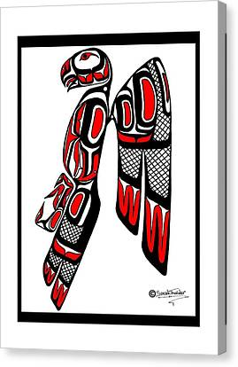 Stoic Falcon Canvas Print