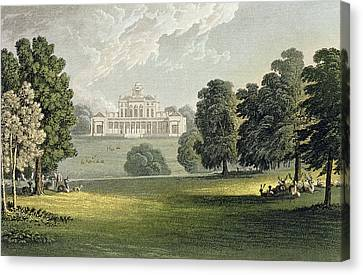 Stoke Park, From Ackermanns Repository Canvas Print