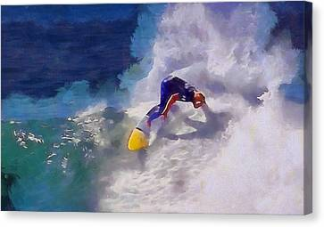 Stoked Surfer Canvas Print by Dan Sproul
