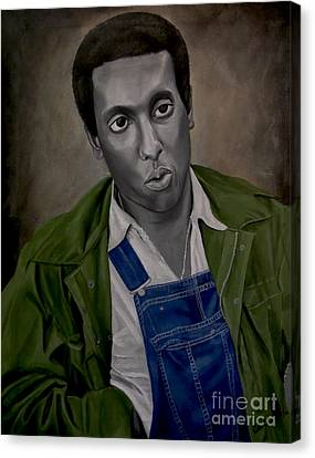 Stokely Carmichael Aka Kwame Toure Canvas Print by Chelle Brantley