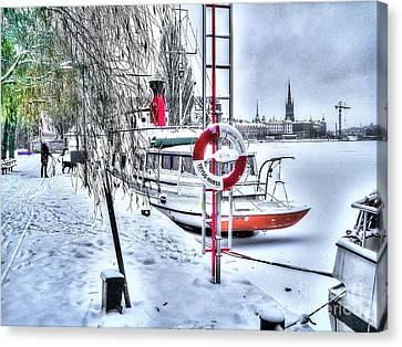 Stokholm Swiss Winter Canvas Print by Yury Bashkin