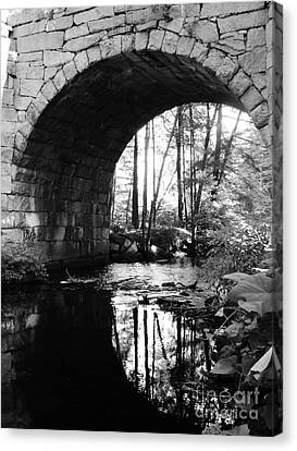 Stone Arch Bridge 2 Canvas Print by Barbara Bardzik