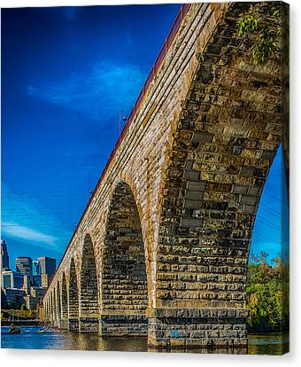 Stone Arch Bridge By Paul Freidlund Canvas Print